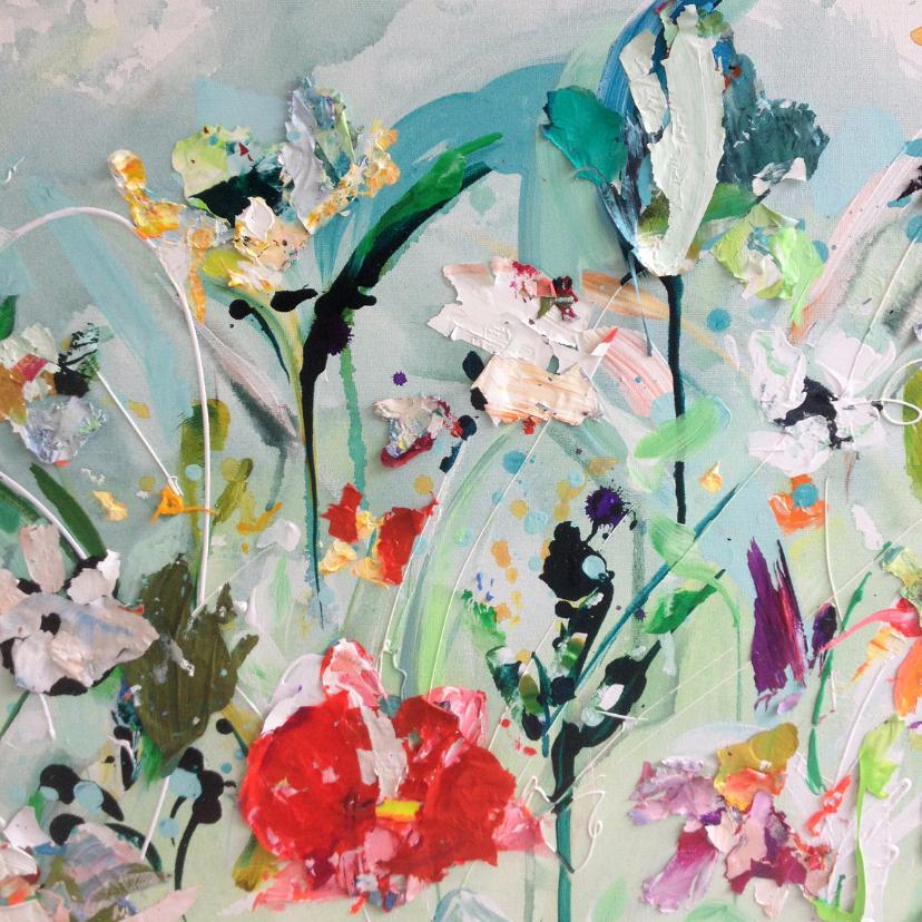 Kunstkaarten - Kunst paletstukken bloemen