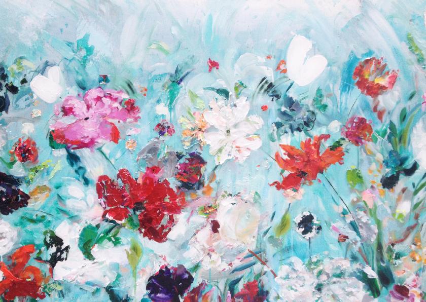 Kunstkaarten - Kunst schilderij Happy Field