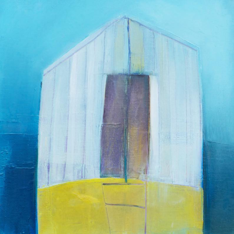 Kunstkaarten - kunstkaart houten huis