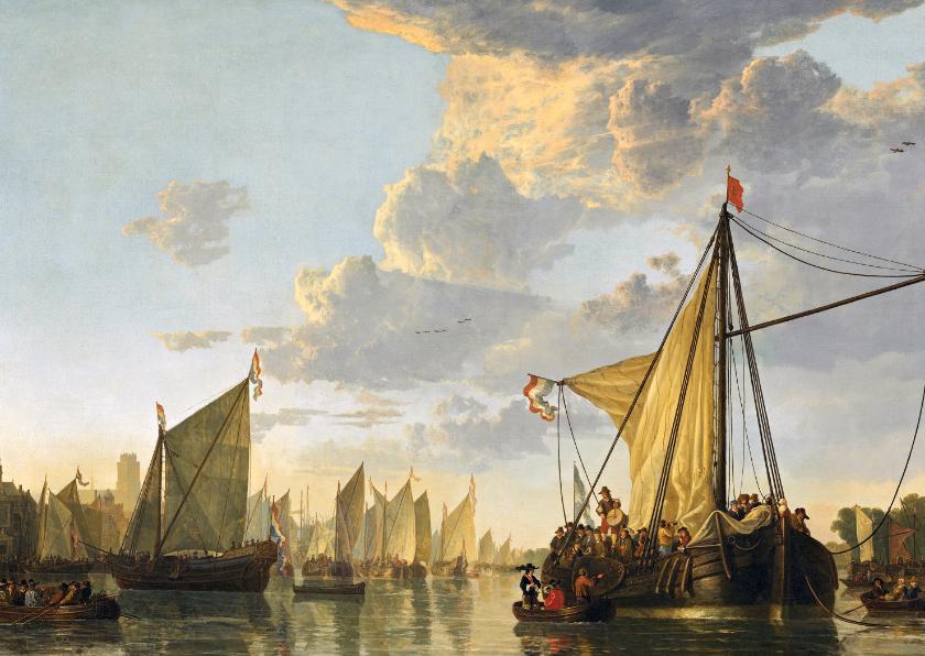 Kunstkaarten - Kunstkaart van Aelbert Cuyp 'Schepen op de Maas'