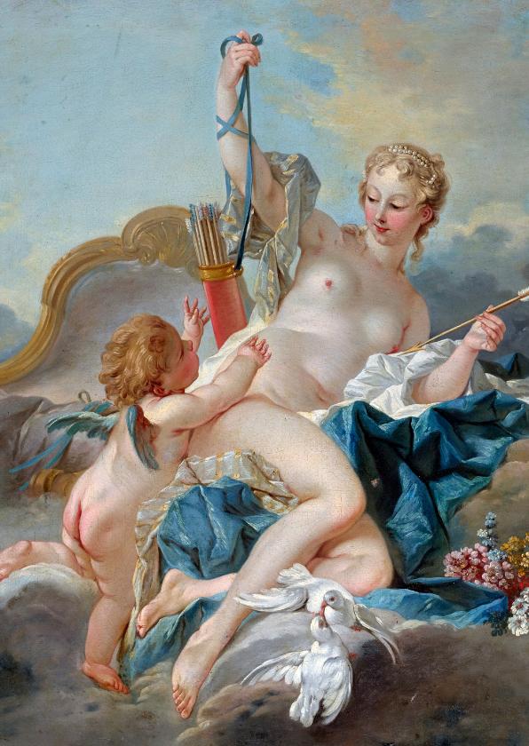 Kunstkaarten - Kunstkaart van Francois Boucher. Venus en Cupido