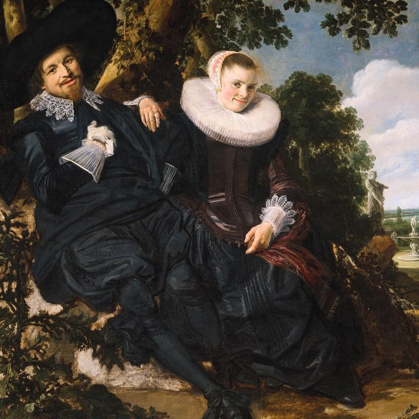 Kunstkaarten - Kunstkaart van Frans Hals. Portret van een stel
