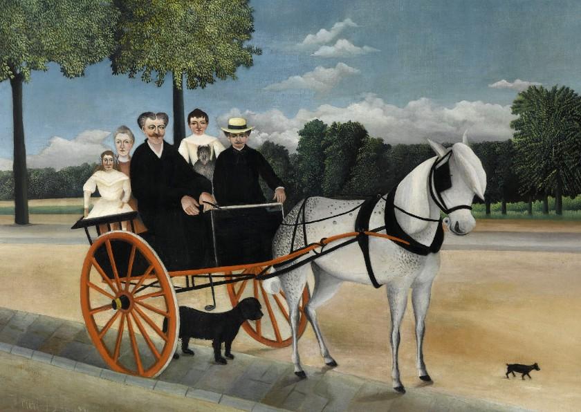 Kunstkaarten - Kunstkaart van Henri Rousseau. Het paardenritje