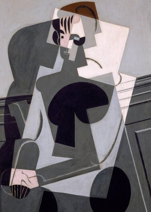 Kunstkaarten - Kunstkaart van Juan Gris. Portret van een vrouw