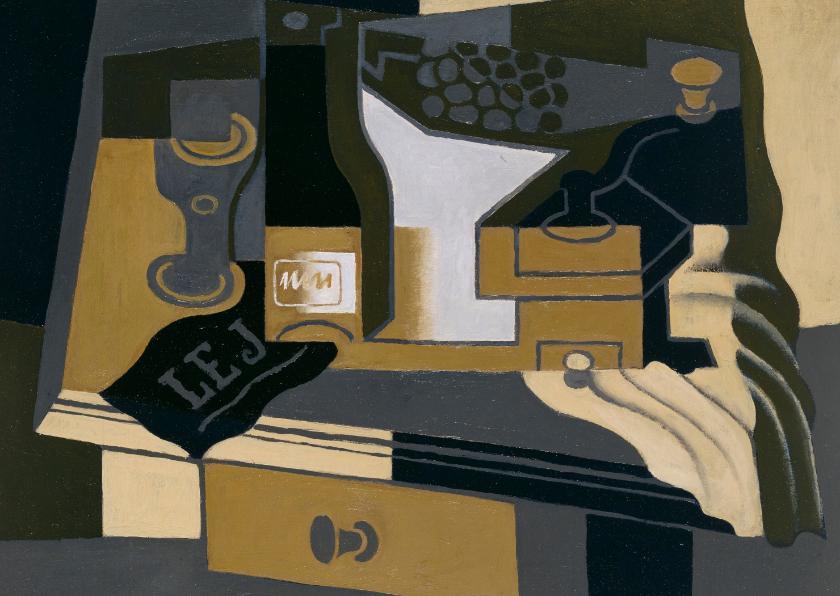 Kunstkaarten - Kunstkaart van Juan Gris. Stilleven
