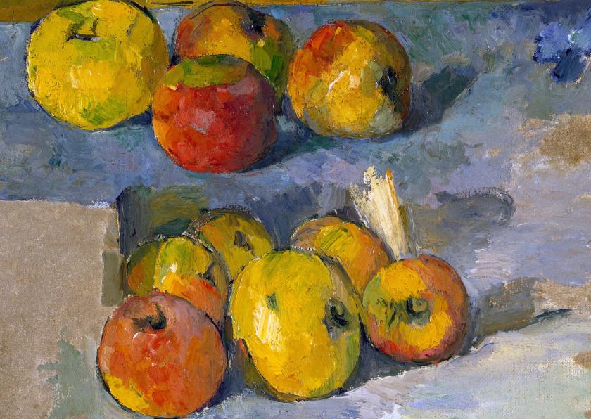 Kunstkaarten - Kunstkaart van Paul Cezanne.  Stilleven met appels