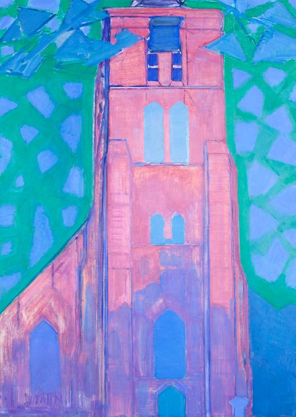 Kunstkaarten - Kunstkaart van Piet Mondriaan. Zeeuwse kerktoren