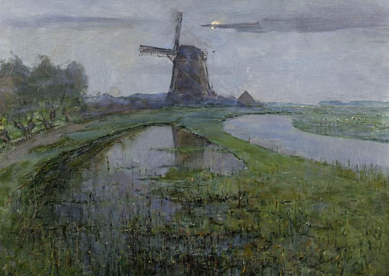 Kunstkaarten - Oostzijdse molen aan het Gein