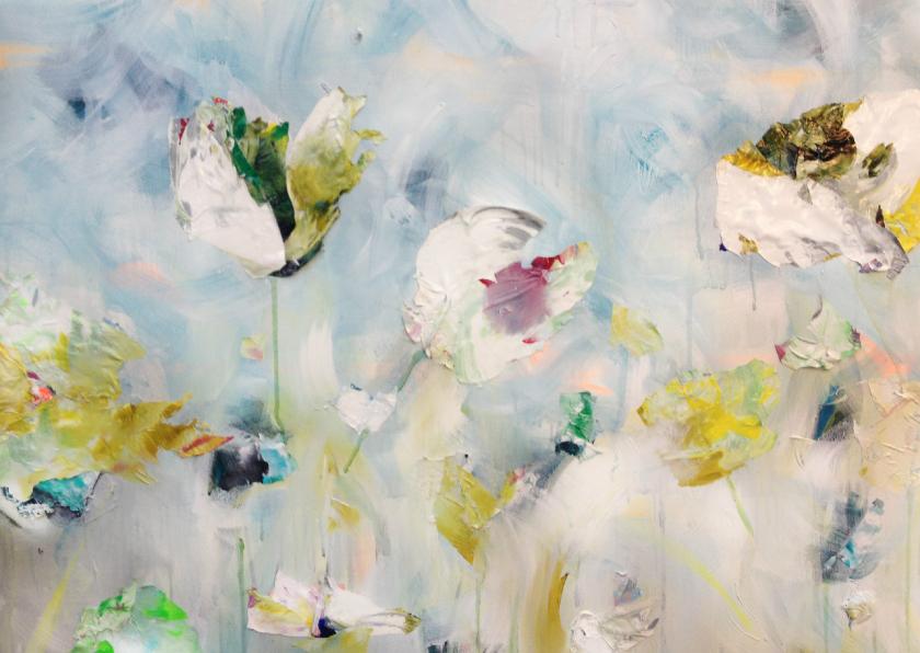 Kunstkaarten - Print van bloemen schilderij