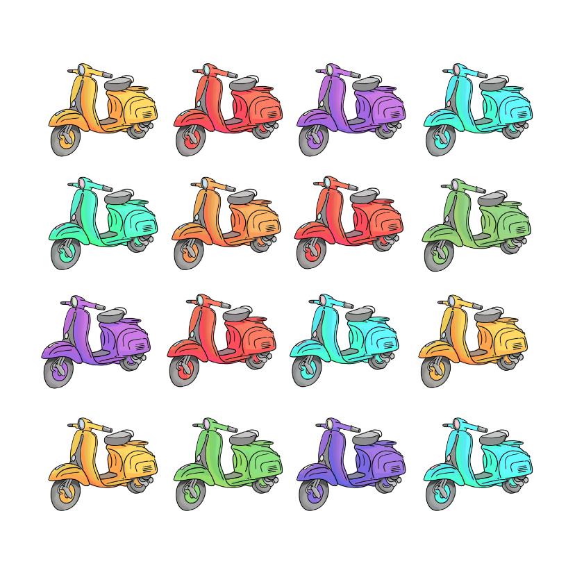 Kunstkaarten - Vespa scooters kaart