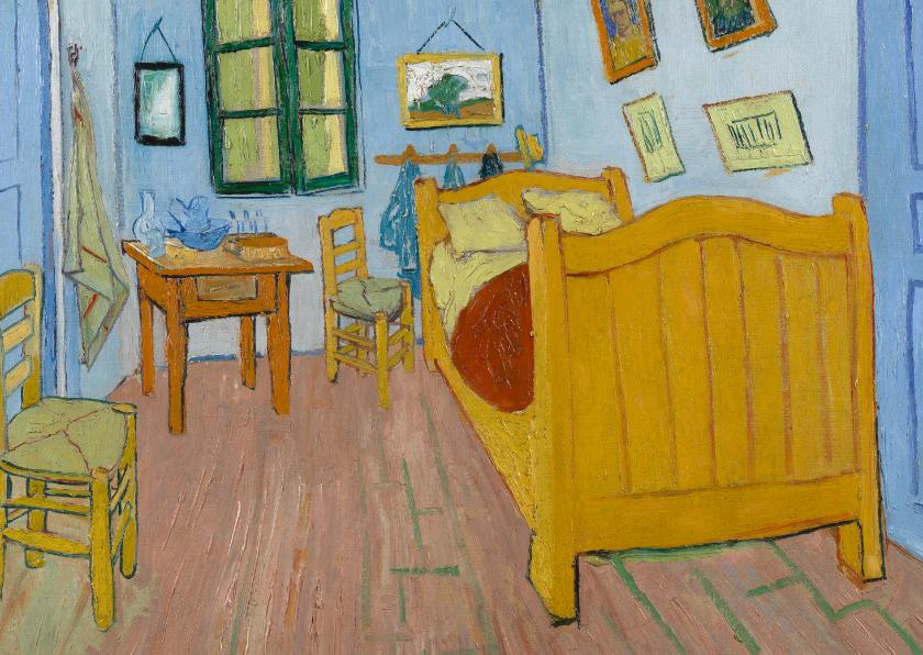 Kunstkaarten - Vincent van Gogh. De slaapkamer