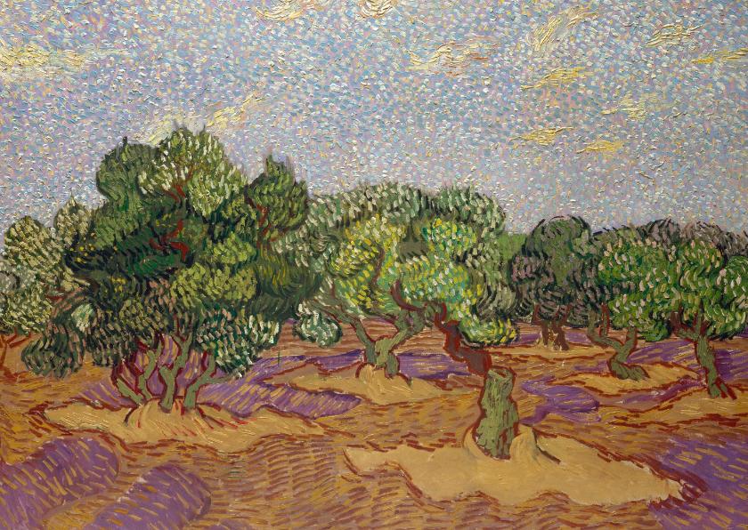 Kunstkaarten - Vincent van Gogh. Landschap met boomgaard