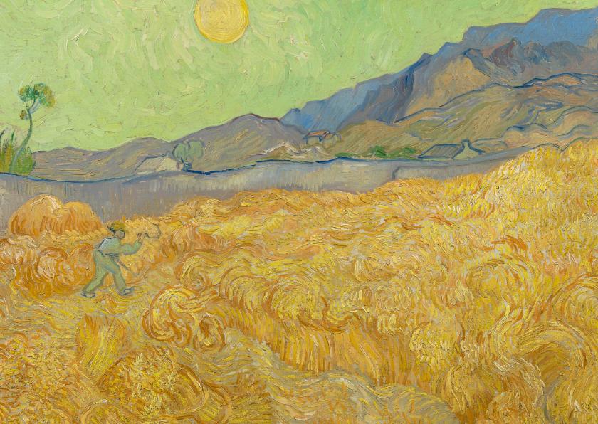 Kunstkaarten - Vincent van Gogh. Maaier in het landschap