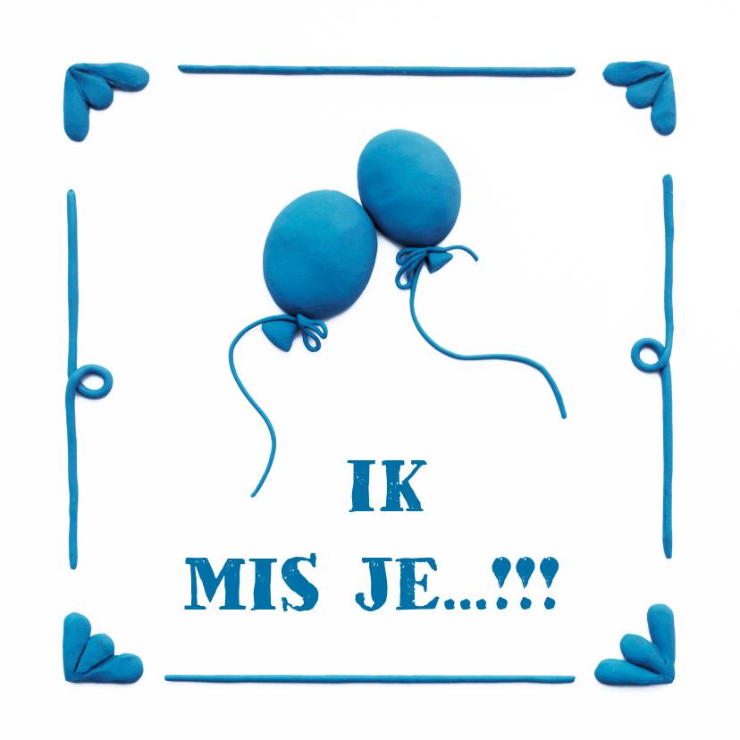 Liefde kaarten - Delfts Blauwe Ballonnen Liefde kaart