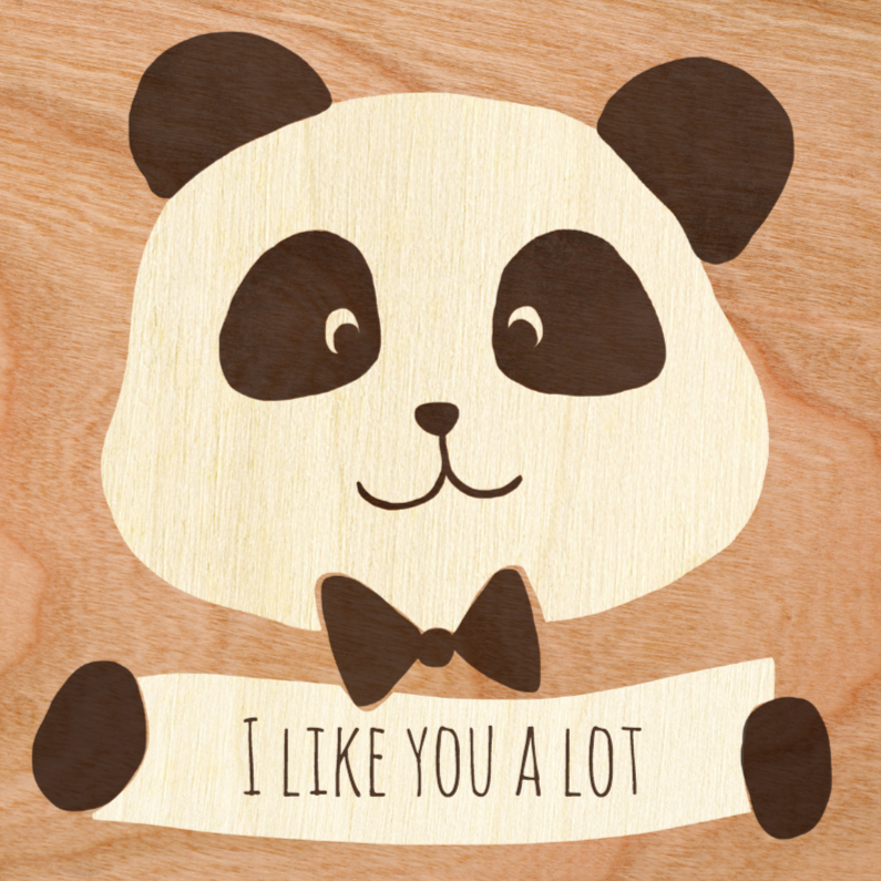Liefde kaarten - I like you a lot panda