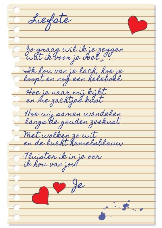 Liefde kaarten - Ik hou van jou handgeschreven