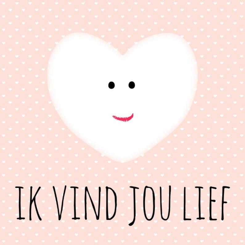 """Liefde kaarten - Kaartje """"Ik vind jou lief"""" - WW"""