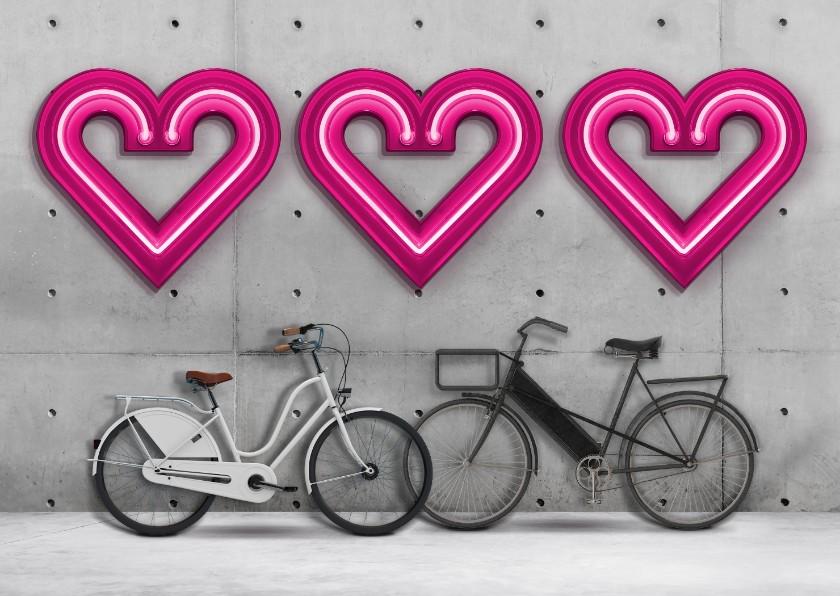Liefde kaarten - Liefde is samen fietsen