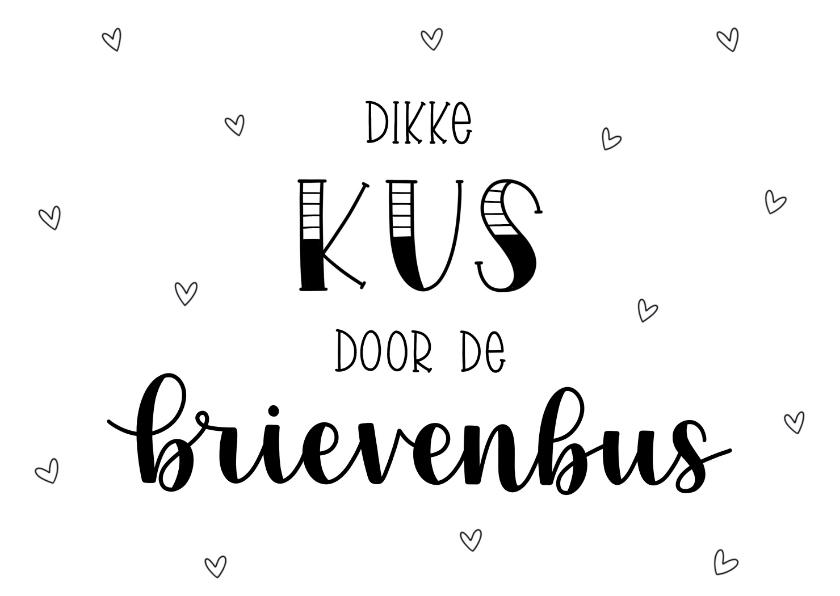 Liefde kaarten - Liefde kaart - Dikke kus door de brievenbus II