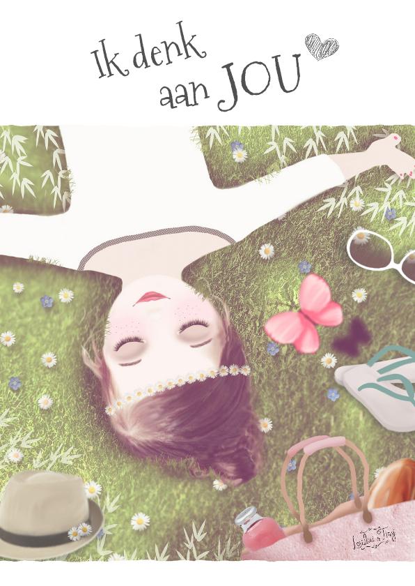 Liefde kaarten - Liefde kaart Ik denk aan Jou -LT