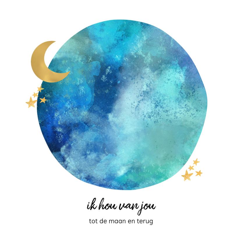 Liefde kaarten - Liefde kaart maan en sterren
