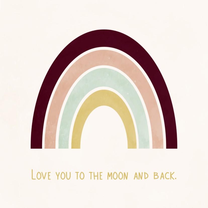 Liefde kaarten - Liefde kaart regenboog