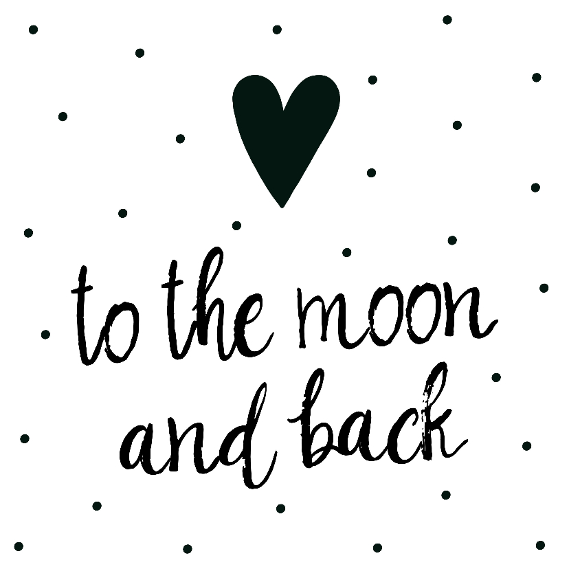 """Liefde kaarten - Liefde kaart """"to the moon and back"""""""