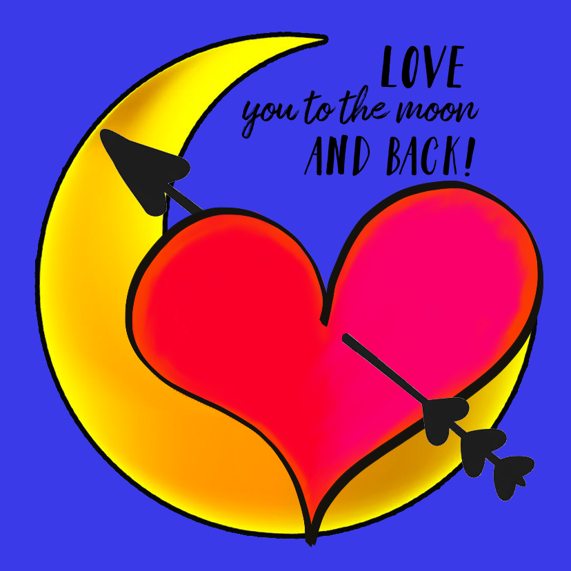 Liefde kaarten - Liefde kaart to the moon