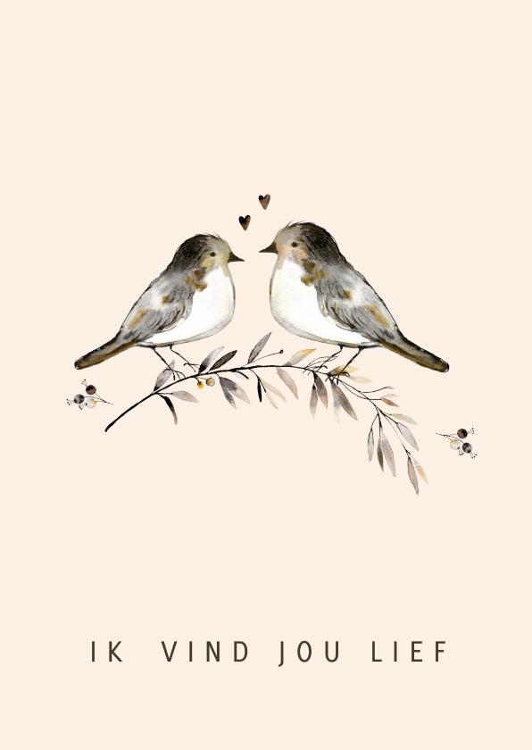 Liefde kaarten - Liefde kaart vogels