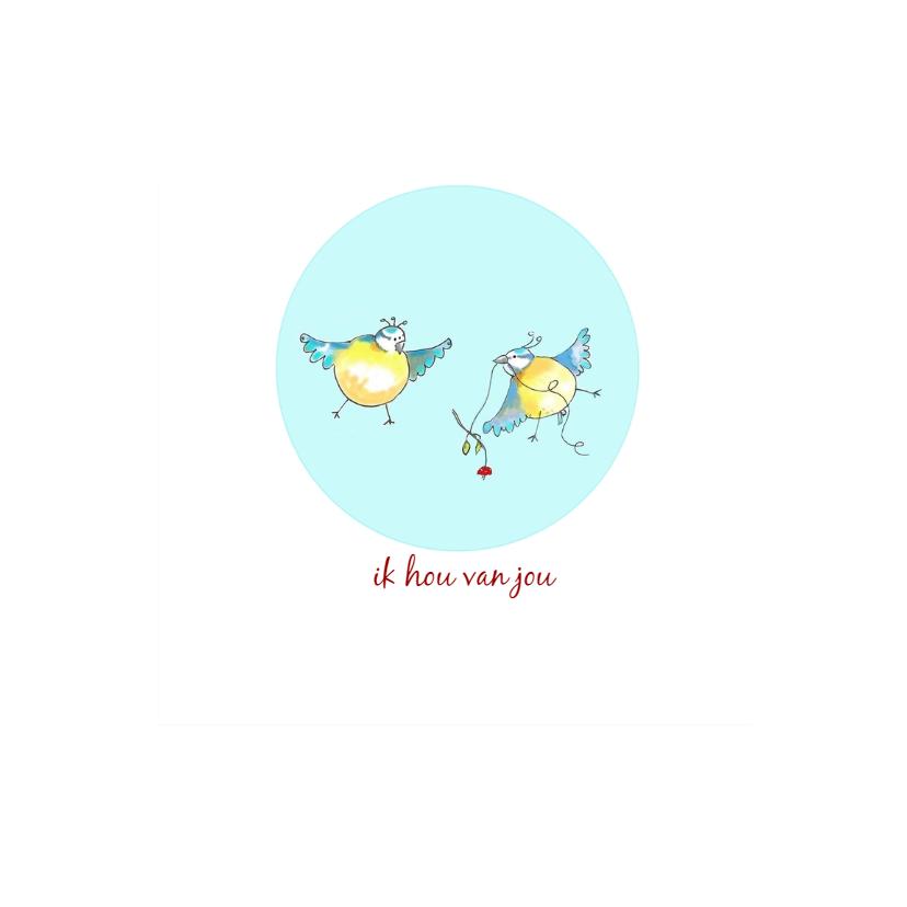 Liefde kaarten - liefde kaarten vogeltjes