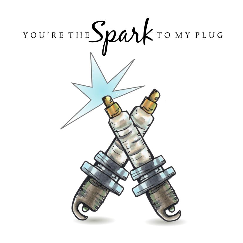 Liefde kaarten - Liefde kaarten you are the spark to my plug