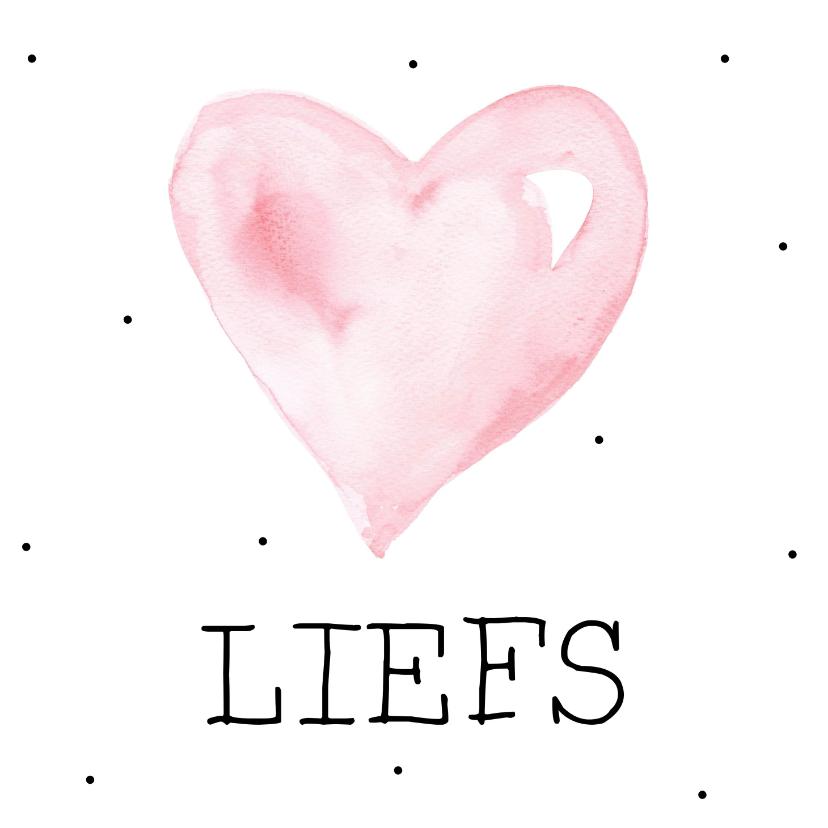 Liefde kaarten - Liefde, liefs met hartje