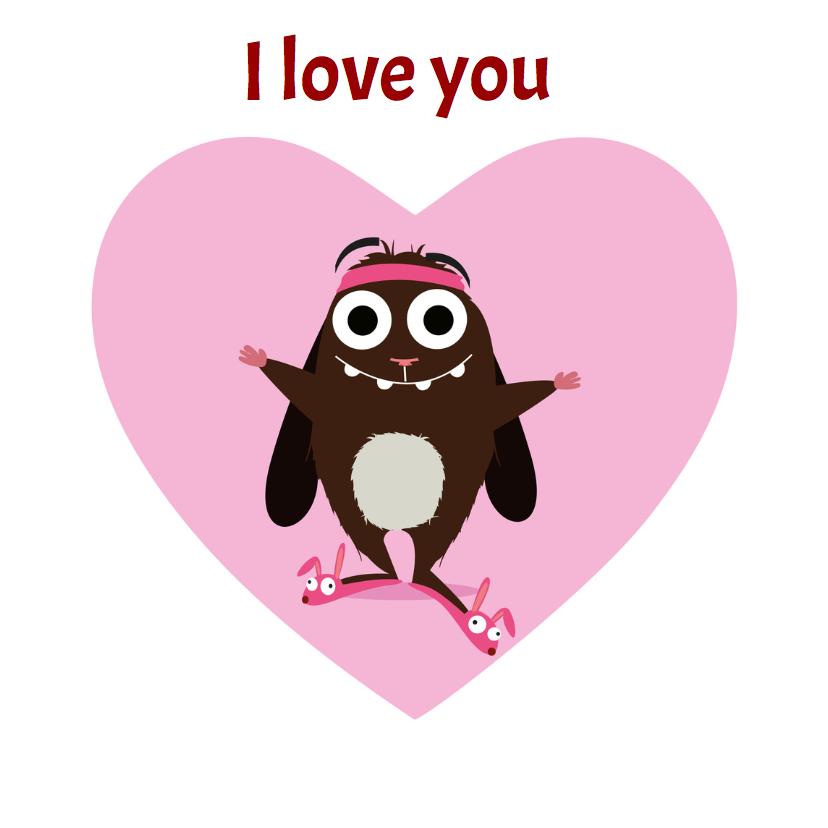 Liefde kaarten - Liefde Veerie houdt van jou!