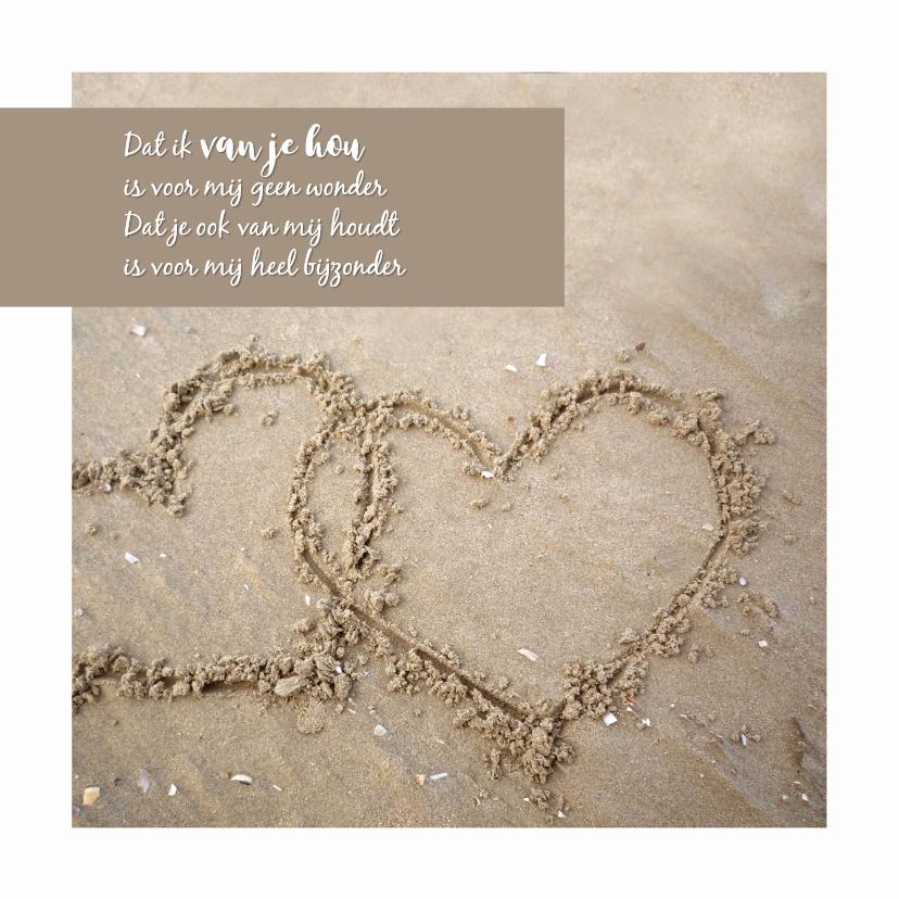 Liefde kaarten - Liefde zandhartjes
