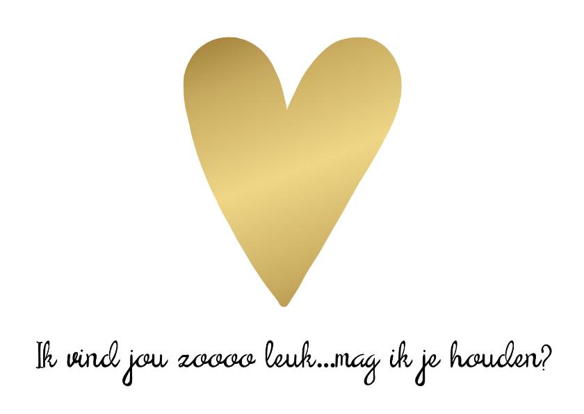 Liefde kaarten - Liefdekaart gouden hart