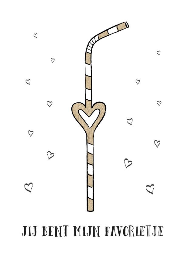 Liefde kaarten - Liefdeskaart met tekst jij bent mijn favorietje