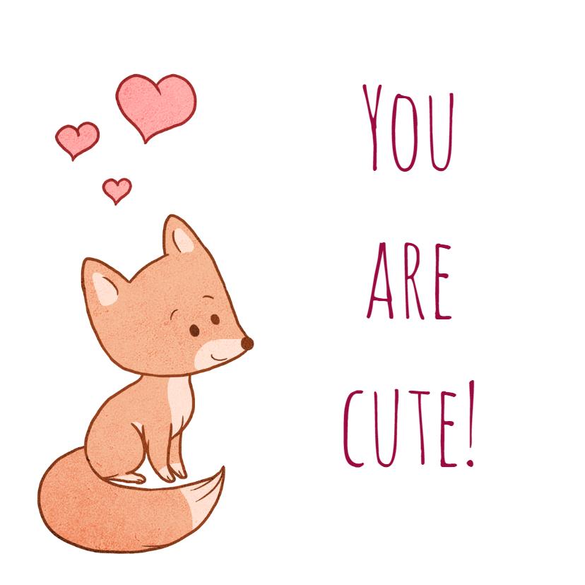 Liefde kaarten - Schattig vosje