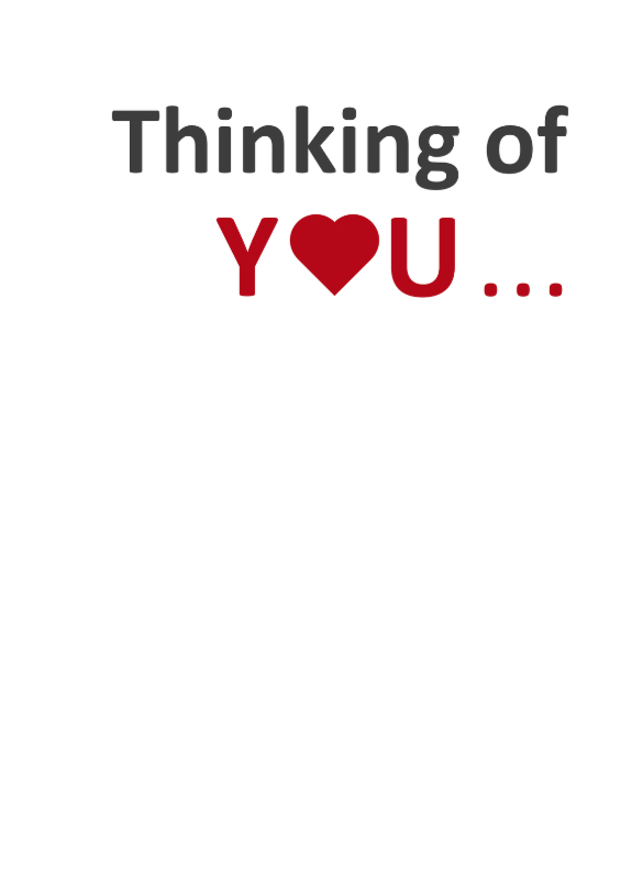 Liefde kaarten - Thinking of you.. nakeddd