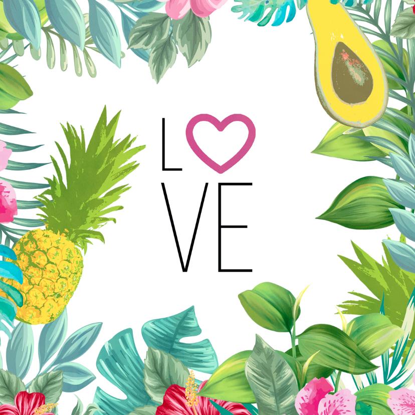 Liefde kaarten - Tropische liefde