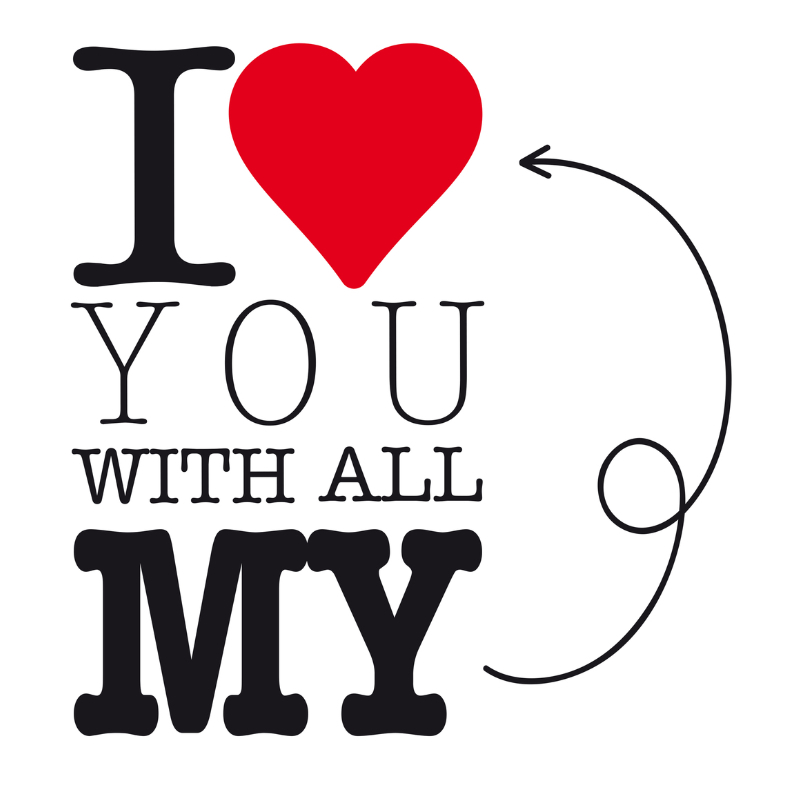 Liefde kaarten - Valentijnskaart I love you hart