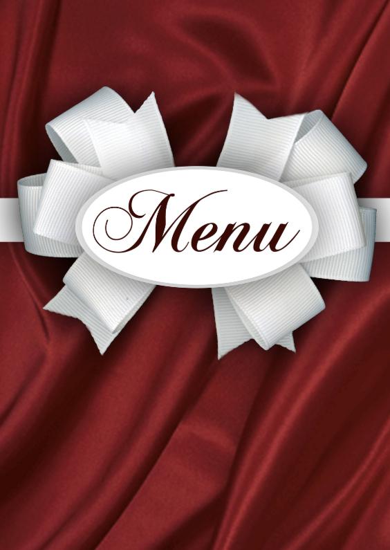Menukaarten - Diner menukaart rood