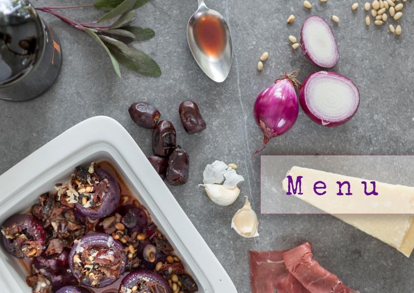 Menukaarten - ingrediënten voor een heerlijk menu
