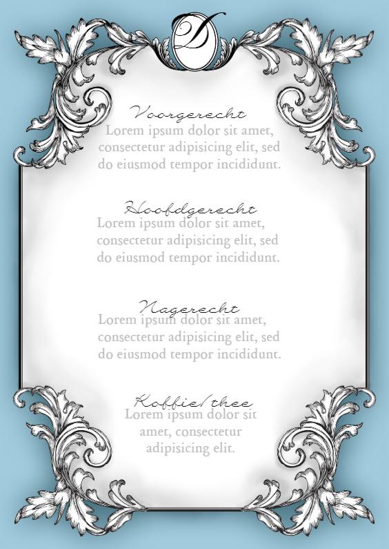 Menukaarten - Klassiek menu