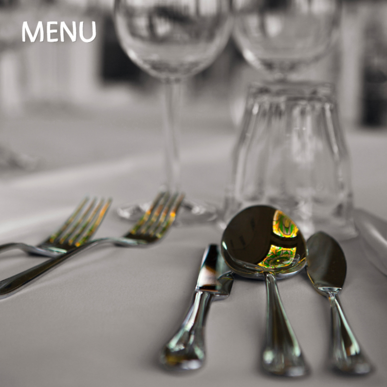 Menukaarten - lekker eten