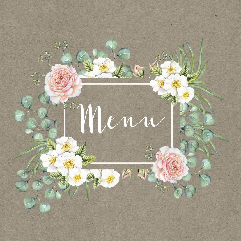 Menukaarten - Menu romantische rozen