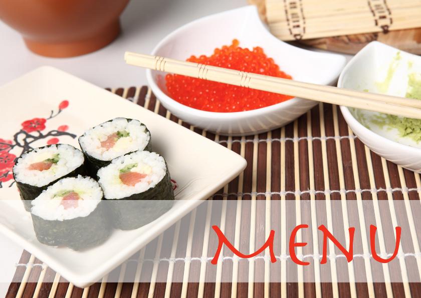 Menukaarten - Menu sushi