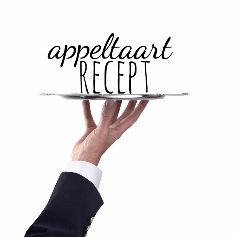 Menukaarten - Recept appeltaart-isf