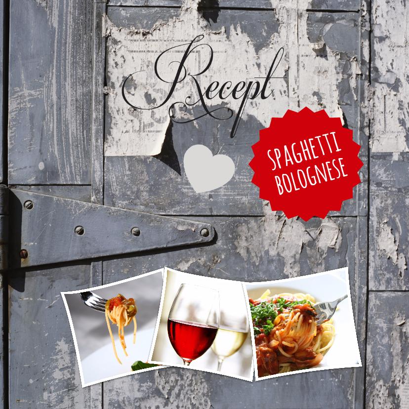 Menukaarten - Recept spaghetti-isf
