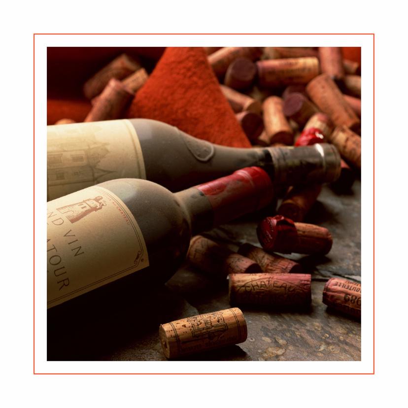 Menukaarten - Wijnflessen