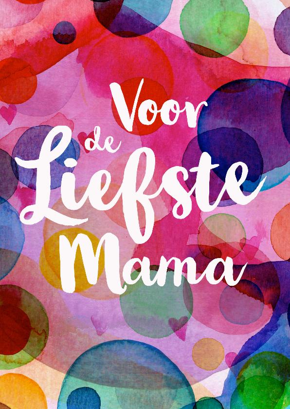 Moederdag kaarten - Allerliefste mama moederdagkaart